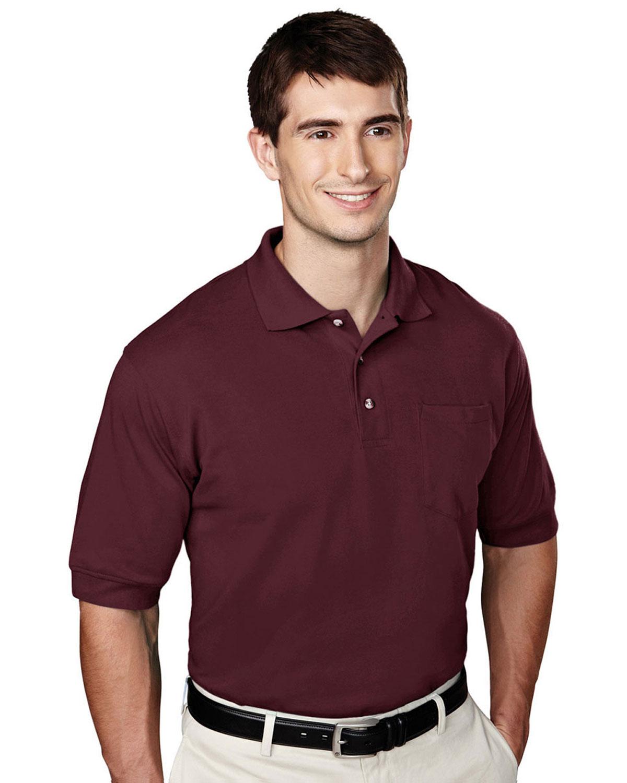 Tri Mountain Pique Pocketed Polo Golf Shirt At Big And
