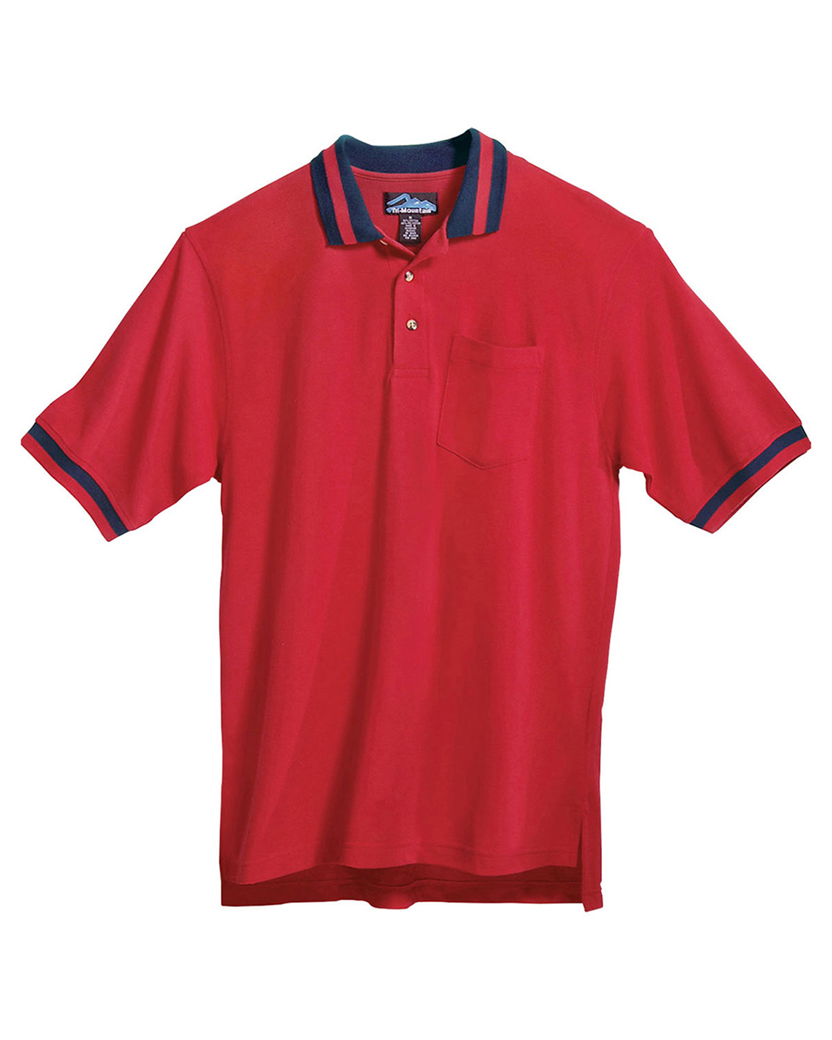 Tri Mountain Pique Pocketed Polo Golf Shirt With Trim Buy