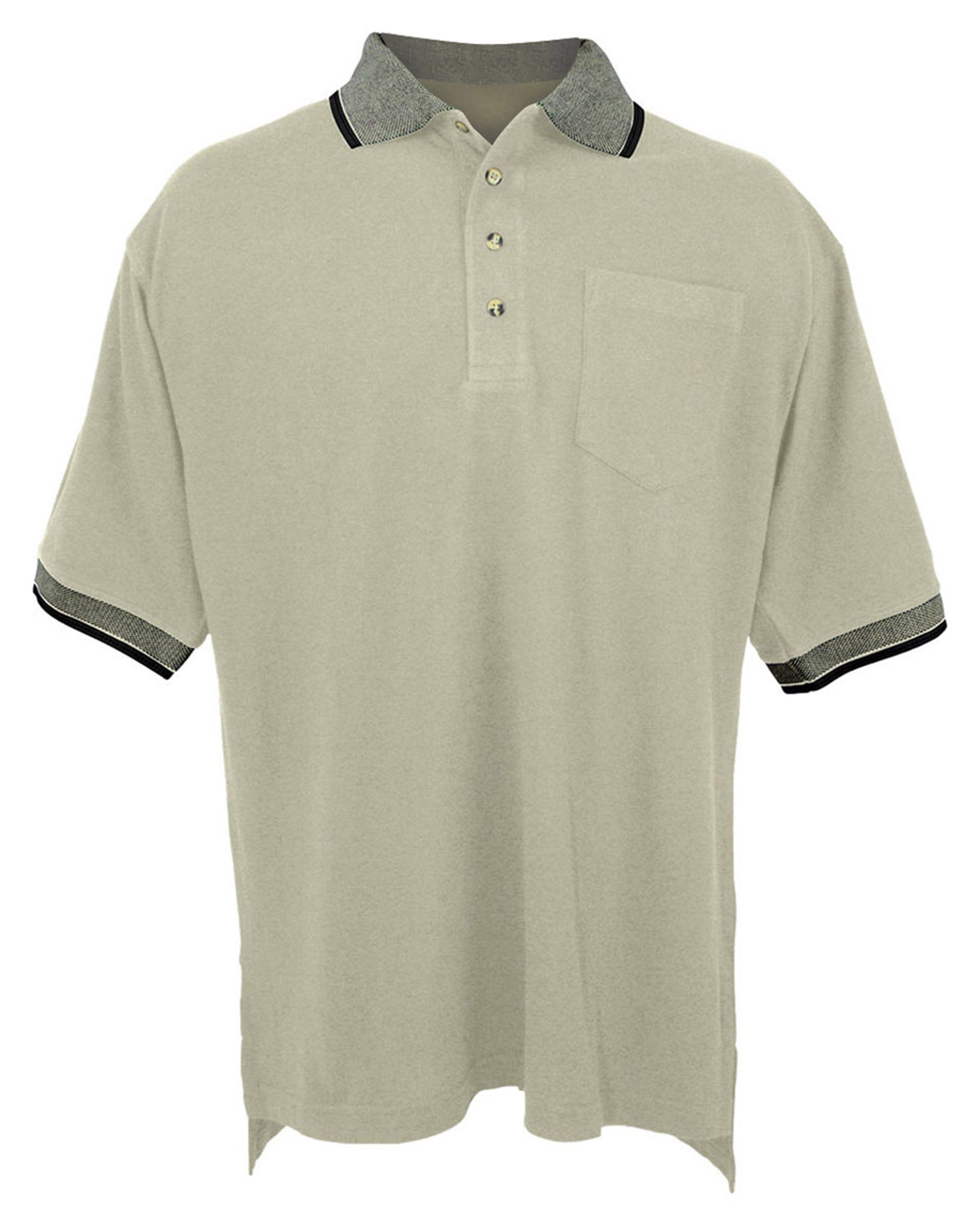 tri mountain pique pocketed polo golf shirt with jacquard