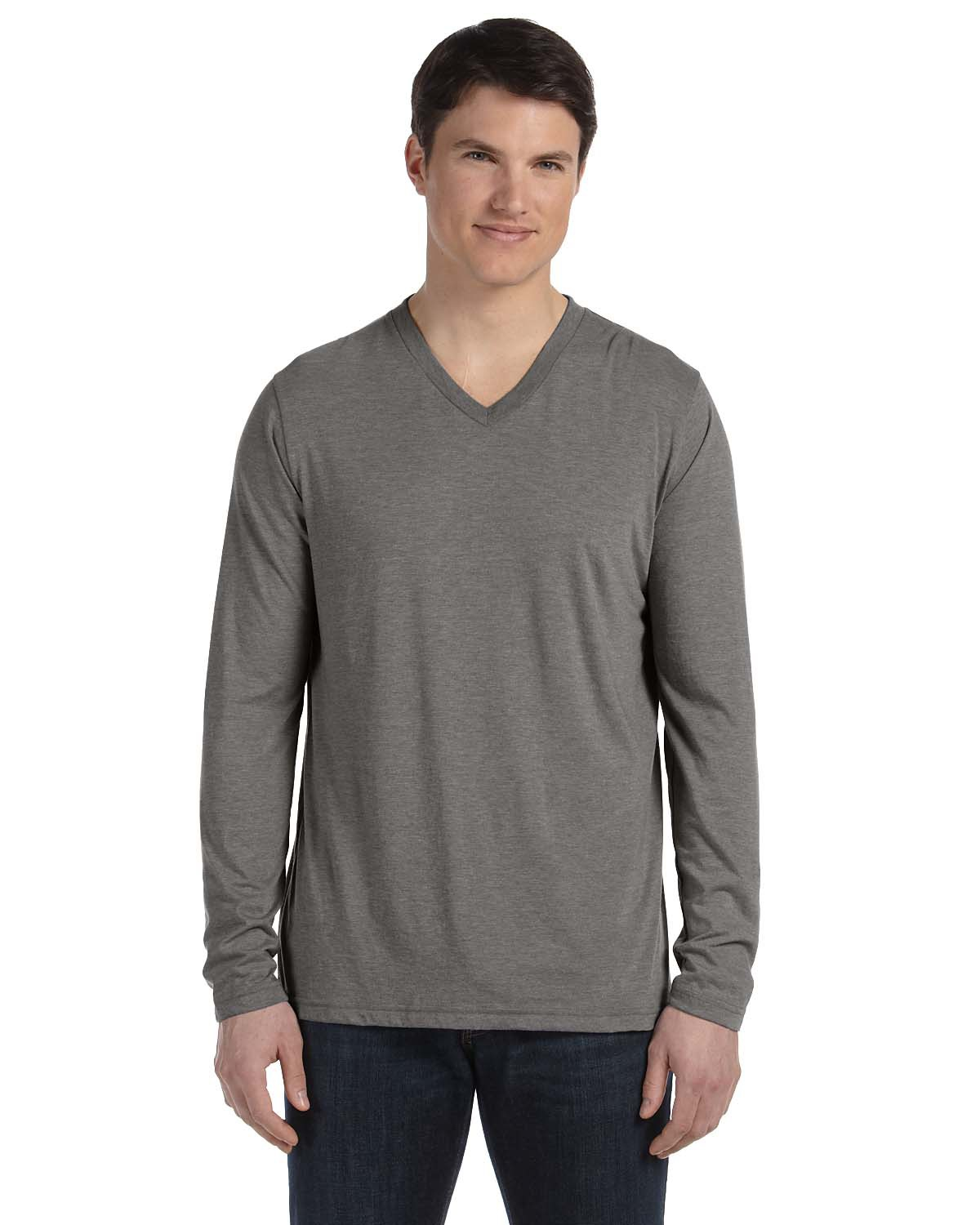 Men 39 S Jersey Long Sleeve V Neck T Shirt