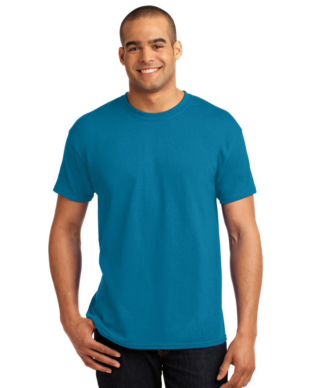 Hanes heavy weight 50 50 cotton poly t shirt at big and for Big n tall shirts