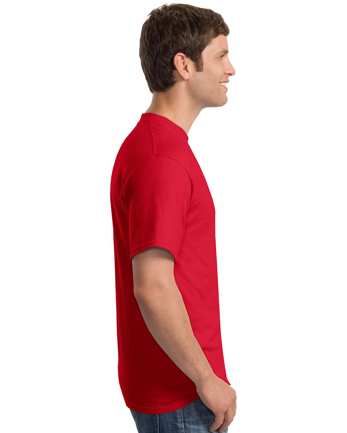 Mens Beefy 100 Cotton T Shirt With Pocket At Big And Tall