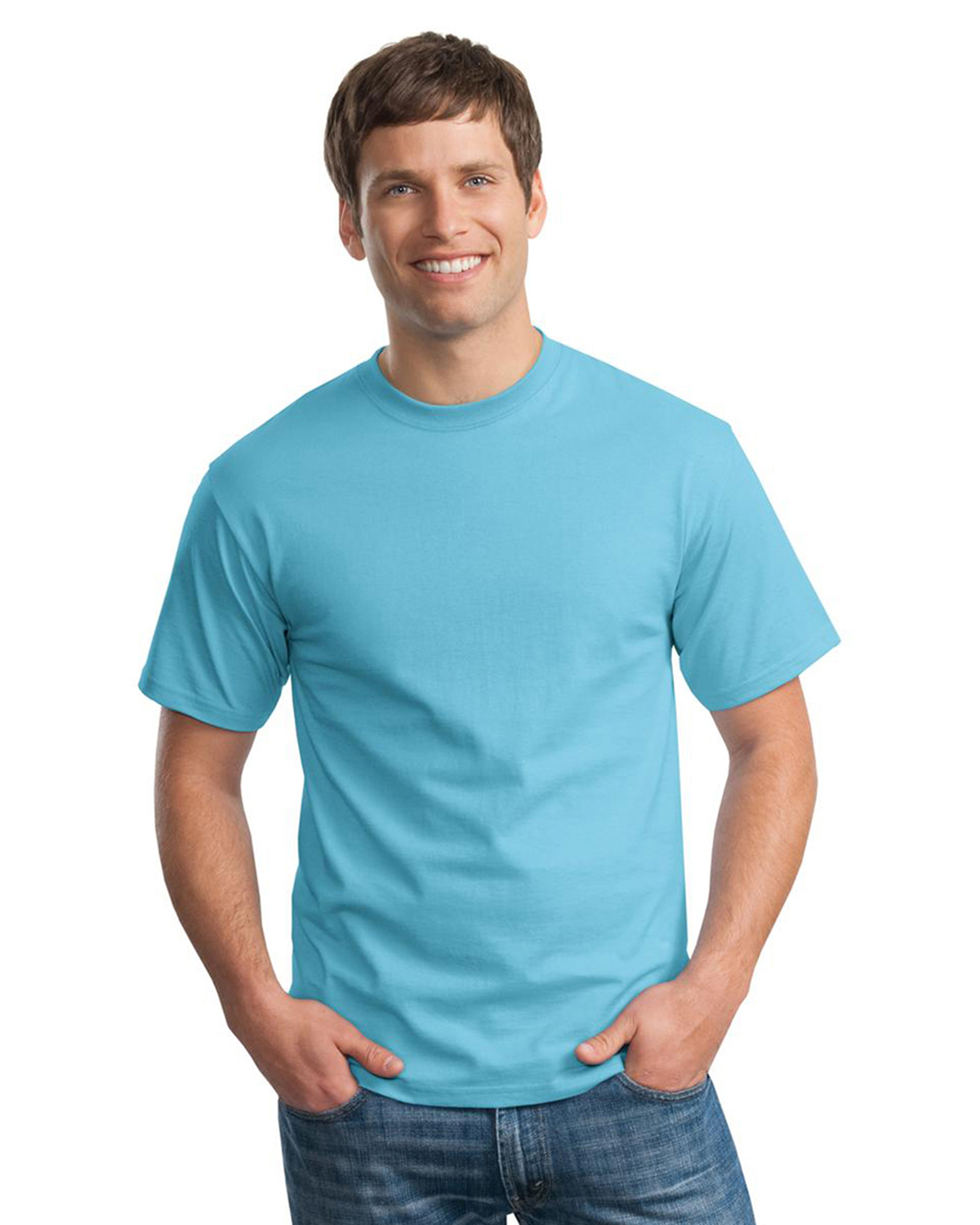 Mens Tagless 100 Comfortsoft Cotton T Shirt At Big And