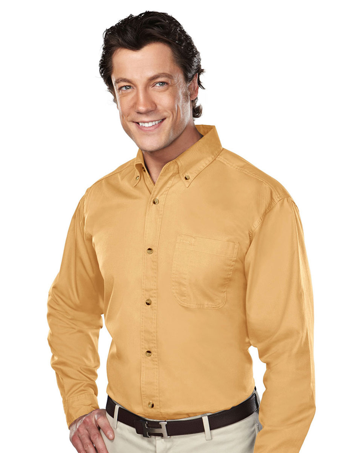Tri Mountain Stain Resistant Long Sleeve Twill Dress Shirt