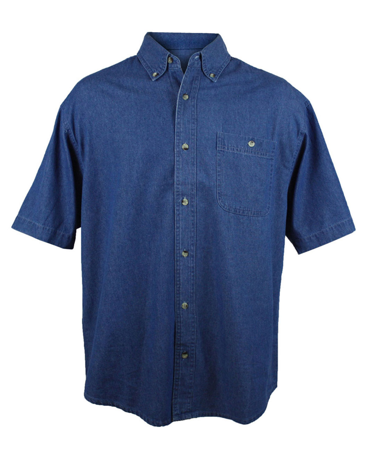 Tri Mountain Denim Short Sleeve Shirt At Big And Tall