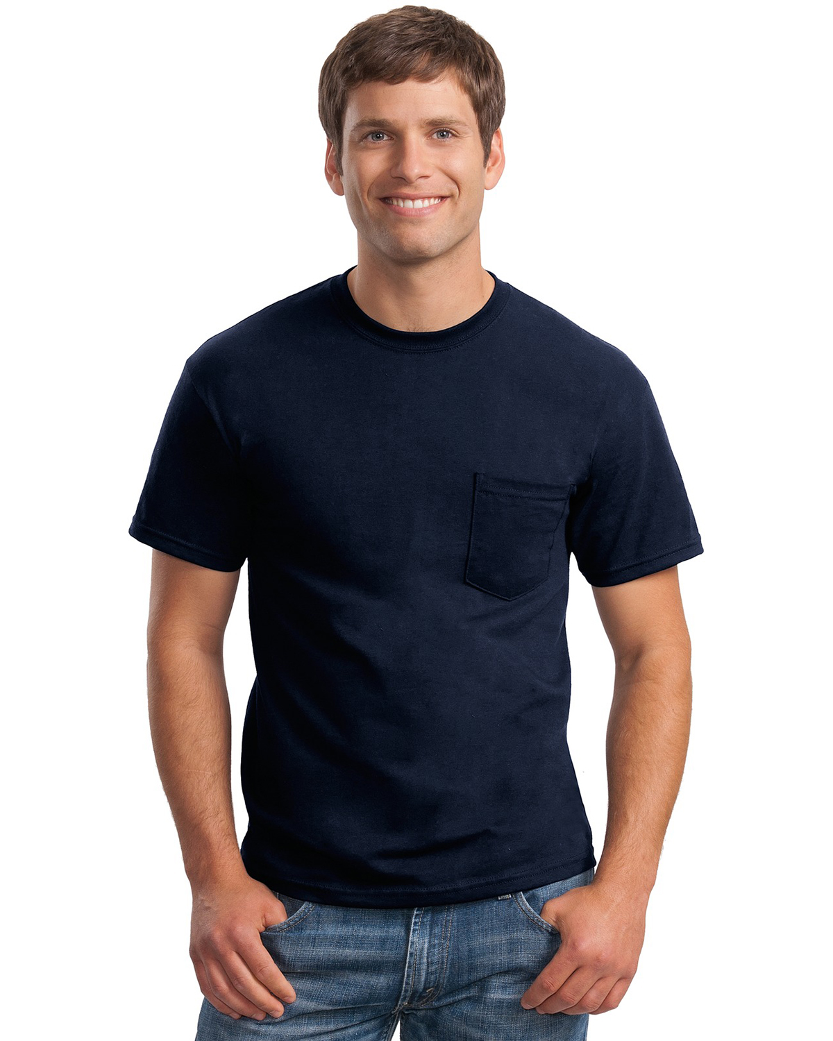 Gildan Ultra Blend 50 50 Cotton Poly Pocket T Shirt At Big
