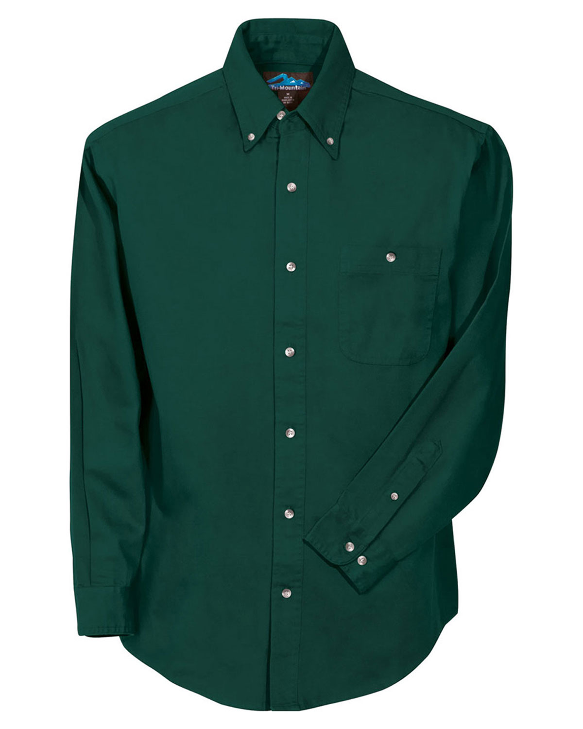 Tri Mountain Heavy Weight Cotton Twill Dress Shirt At Big