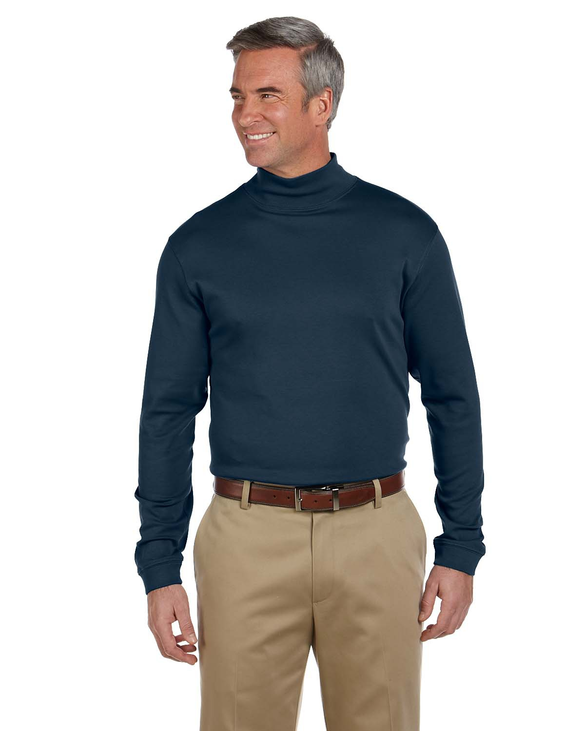 Chestnut hill pima cotton mock neck at big and tall for Big and tall mock turtleneck shirt