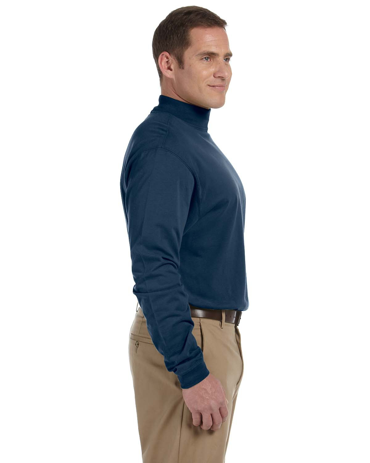 Mens Sueded Cotton Jersey Mock Turtleneck At Big And Tall