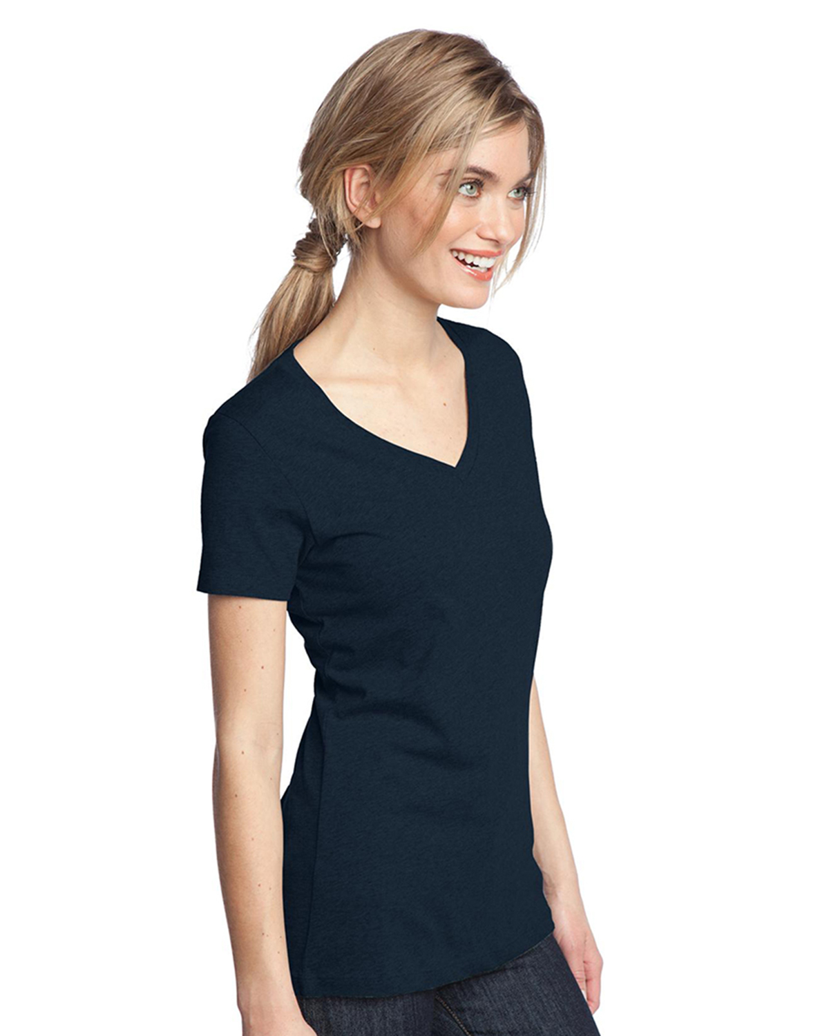 Ladies Perfect Weight V Neck Tee Shirts At Big And Tall
