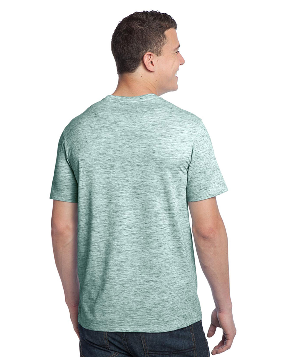 Young mens extreme heather crew tee jersey t shirts for Big n tall shirts