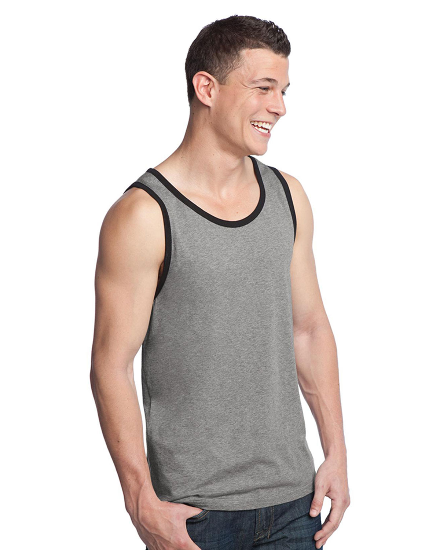 Young mens cotton ringer tank ringer t shirts big size for Big n tall shirts