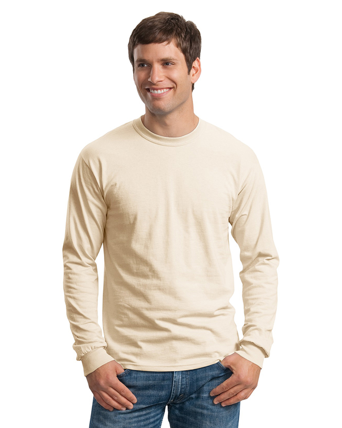 Mens ultra 100 cotton long sleeve t shirts at big and for Mens 100 cotton long sleeve t shirts