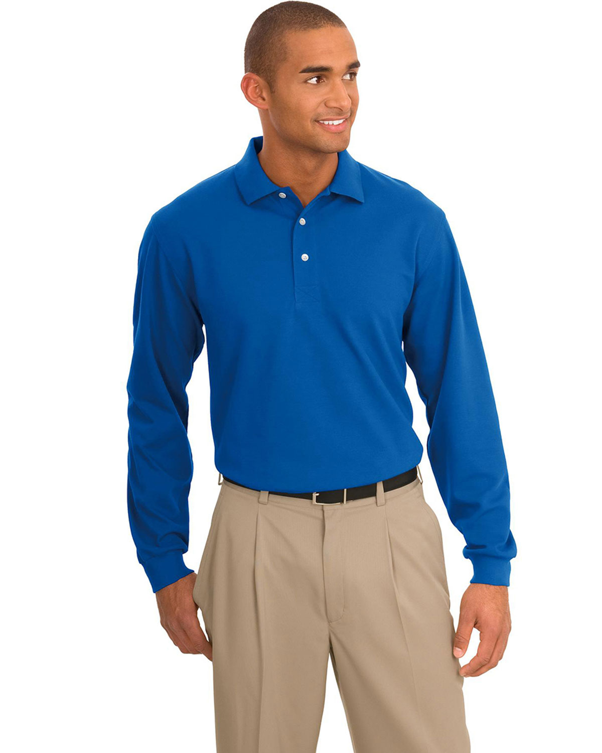 Port authority signature rapid dry long sleeve sport shirt for Big n tall shirts
