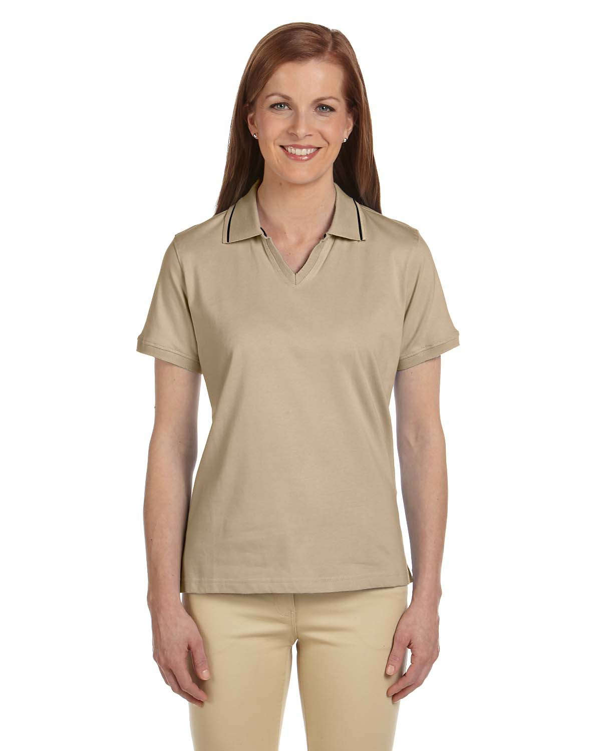 Ladies Plus Size Cotton Jersey S Sleeve Polo With Tipping