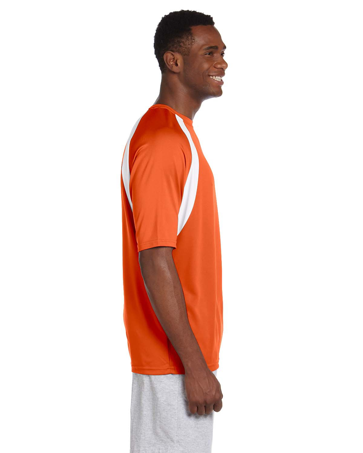 Mens 4 2 Oz Athletic Sport Color Block T Shirt At Big And
