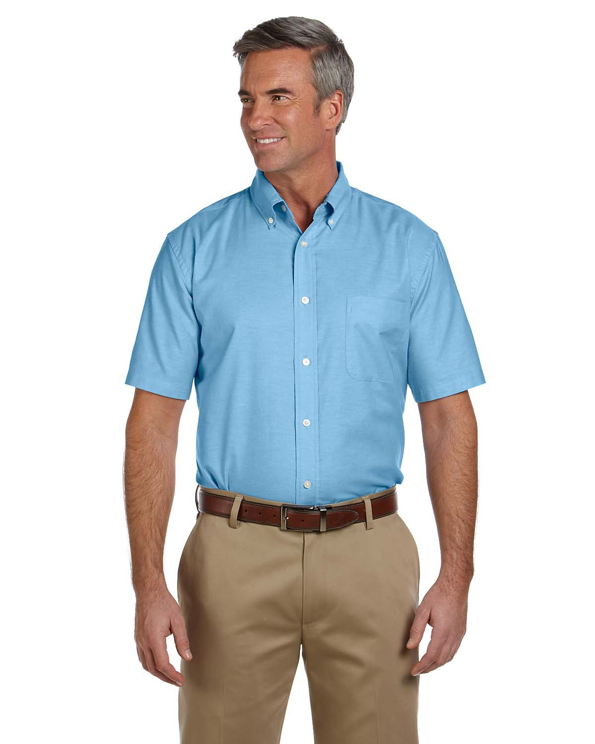 Mens Short Sleeve Oxford With Stain Release At Big And