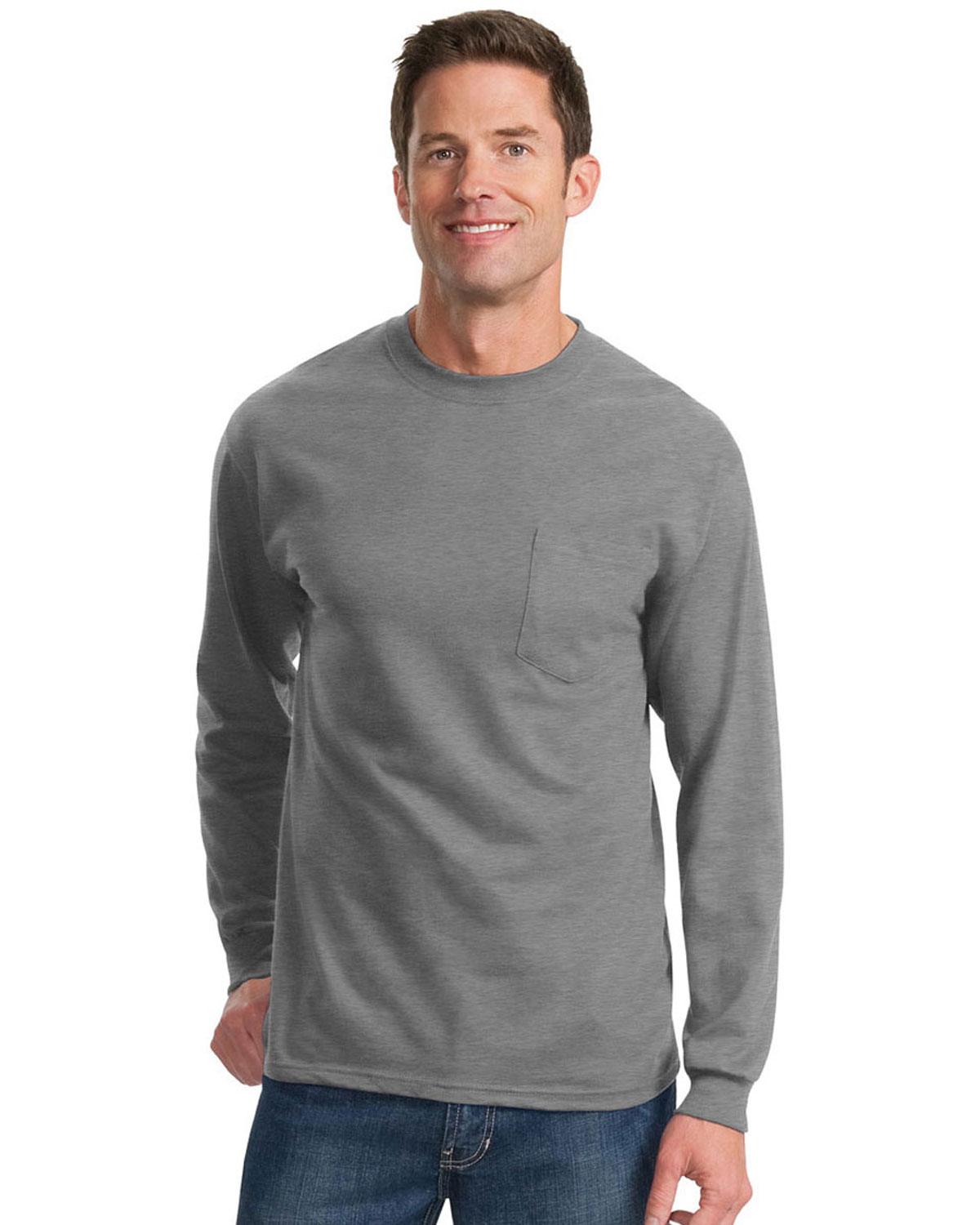 Port Company Tall Long Sleeve Essential T Shirt With