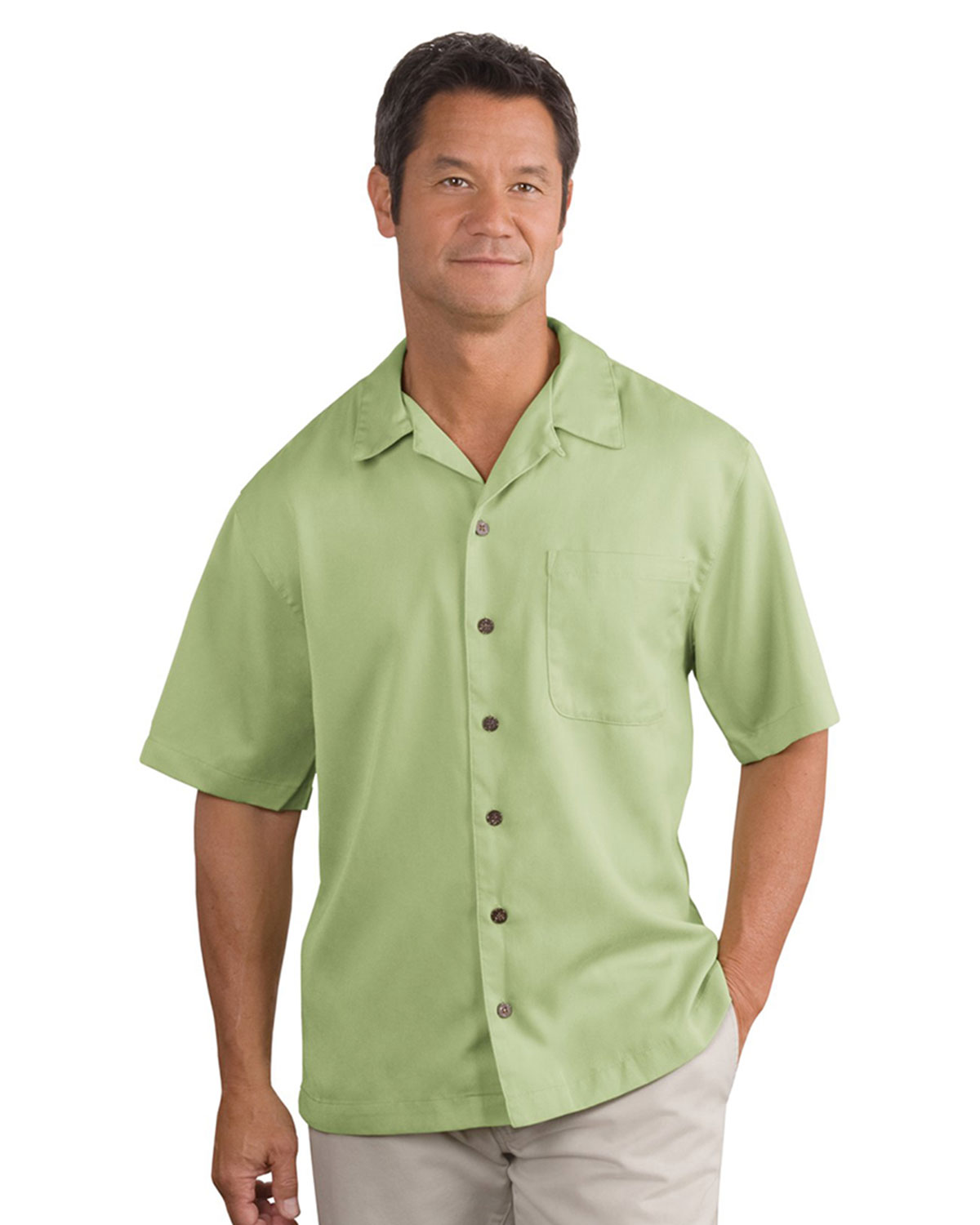 Port authority easy care camp shirt at big and tall for Big n tall shirts