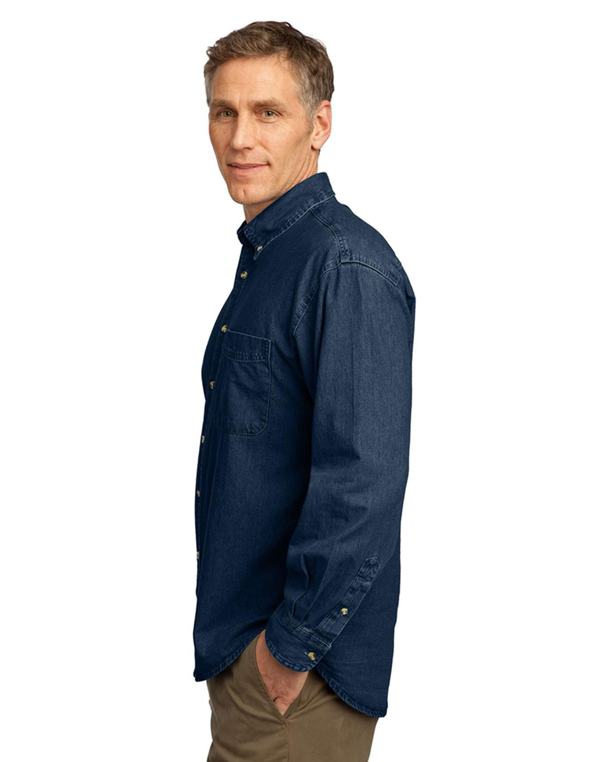 Port Company Long Sleeve Value Denim Shirt At Big And