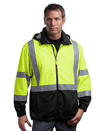 Mens ANSI Class 3 Safety Windbreaker