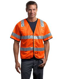 Mens ANSI Class 3 Economy Mesh Safety Vest