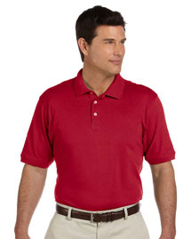 Mens 65 Oz Ringspun Cotton Pique Short Sleeve Polo