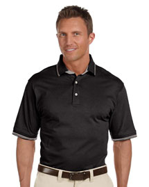 Mens 59 Oz Cotton Jersey Short Sleeve Polo with Tipping