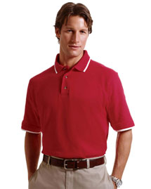 Mens 6 Oz Short Sleeve Pique Polo with Tipping