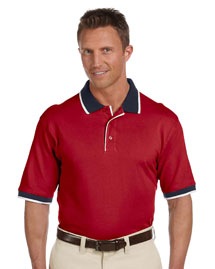Mens 6 Oz Cotton Pique Colorblock Polo