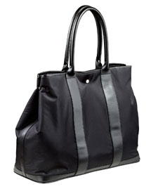 Microtwill/Leather Tote