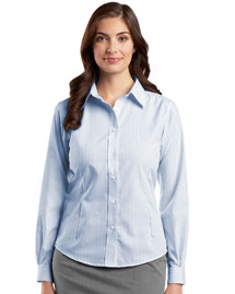 Ladies Fine Line Non-Iron Button-Down Shirt.  RH42
