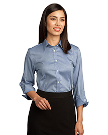 Red House ®  Ladies 3/4-Sleeve Non-Iron Pinpoint Oxford.  RH45