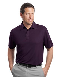 Mens Contrast Stitch Performance Pique Polo