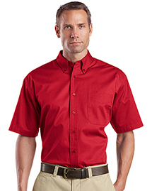 Mens Short Sleeve Super Pro Twill Shirt