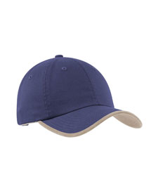 Mens Twill Cap with Contrast Visor Trim and Underbill