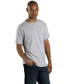 Fruit of the Loom 3931P 5.4 oz. Heavy Cotton Pocket T-Shirt at bigntallapparel
