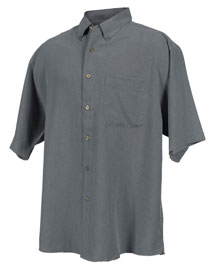Mens Short Sleeve Casual Shirt With Plaid Pattern