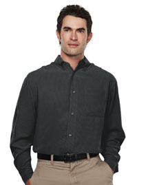 Mens Long Sleeve Casual Shirt With Plaid Pattern