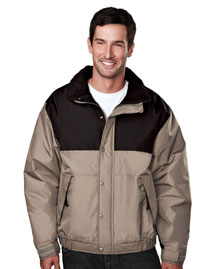 Big And Tall Mens  Colorblock Nylon Jacket With Fleece Lining