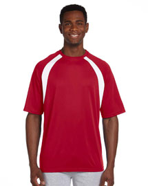Harriton M322 4.2 oz. Athletic Sport Color Block T-Shirt at bigntallapparel