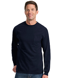 Mens 100% Cotton Long Sleeve T Shirt with Pocket
