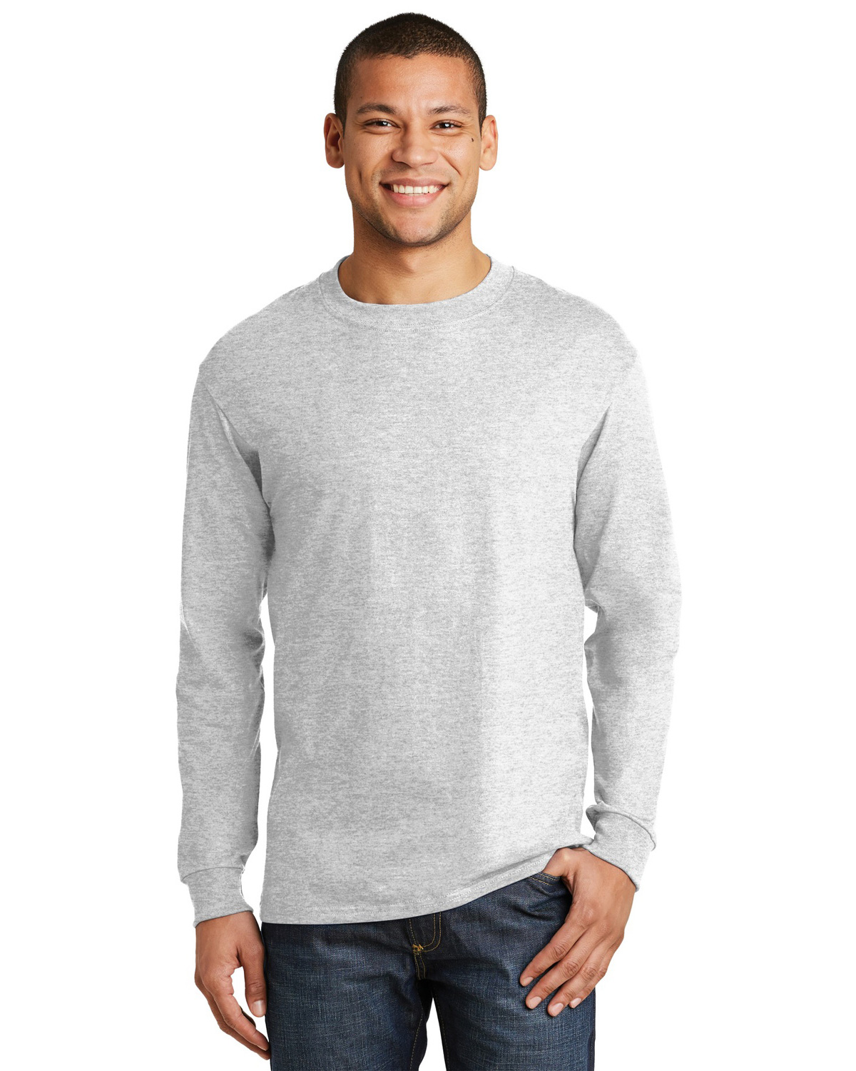 Mens Beefy 100 Cotton Long Sleeve T Shirt At Big And Tall