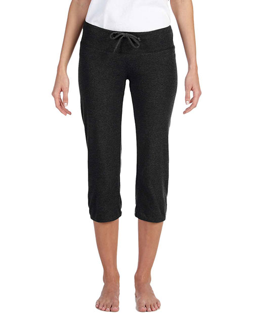 Bella 0816 Ladies' Capri Scrunch Pant BLACK at bigntallapparel