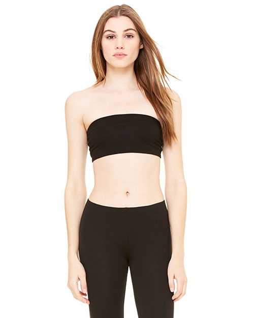 Bella 0980  Wocotton Spandex Bandeau Black at bigntallapparel
