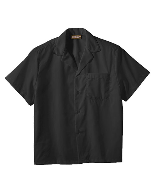 Edwards 1029 EASY CARE POPLIN CAMP SHIRT BLACK at bigntallapparel