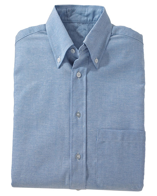 Edwards 1077 MEN'S EASY CARE LONG SLEEVE OXFORD BLUE at bigntallapparel