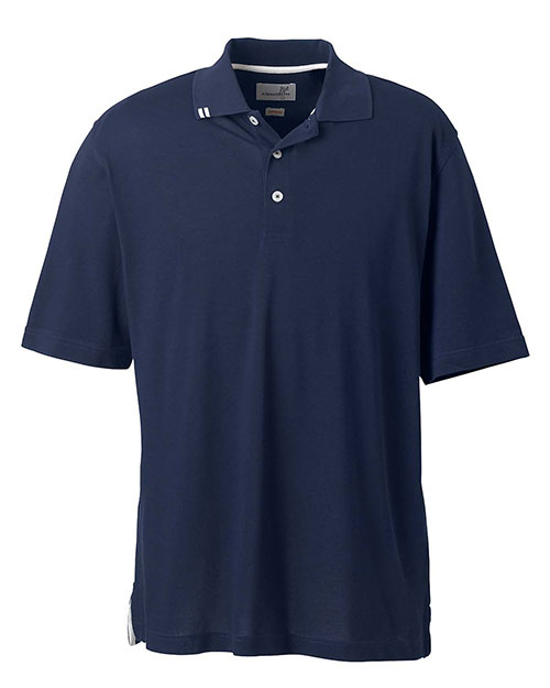 Ashworth 1139 Men's EZ-Tech Piqué Polo NAVY at bigntallapparel