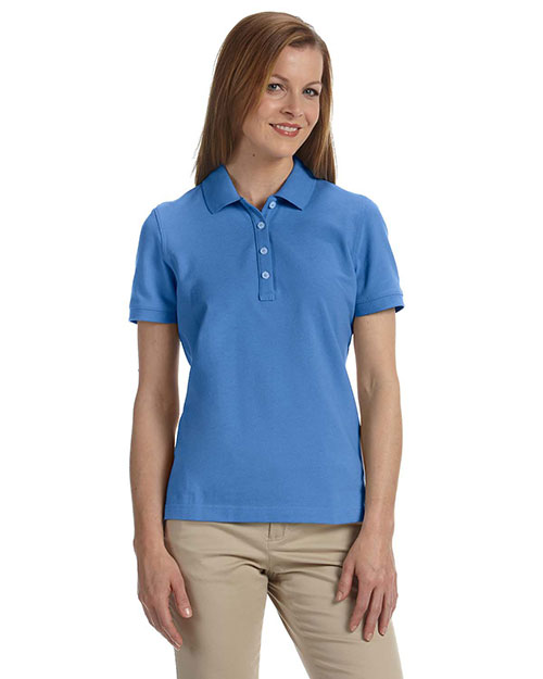 Ashworth 1146C Ladies' Combed Cotton Piqué Polo ABSOLUTE BLUE at bigntallapparel