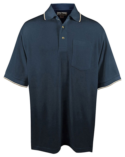 Tri mountain ultracool mesh pocketed polo golf shirt buy for Large tall golf shirts